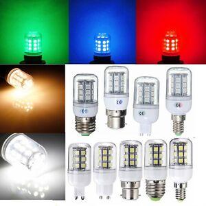 Red-Green-Blue-E27-E14-G9-B22-5050-27SMD-LED-Light-Corn-Bulb-Lamp-110-220V