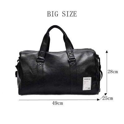 Large Leather Sport Gym Bag Men and Women/'s Fitness Training Travel Shoulder Bag