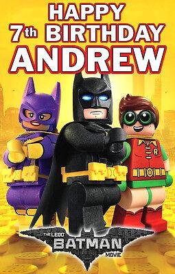 2 x Film Lego 2 Personnalisé Anniversaire Bannières