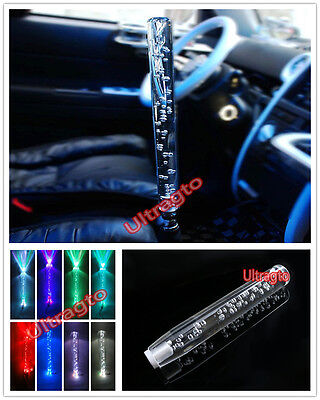 Homyl 30cm Universal LED Crystal Bubble Car Gear Stick Shift Lever Shifter Knob