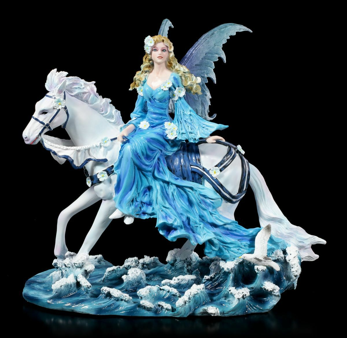 Figura Elfos con Caballo - Euphoria By Nene Thomas - Fantasy Hada Unicornio