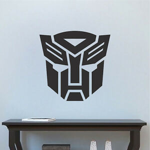 Details About Autobot Logo Transformers Wallpaper Decal Mural Last Knight Wall Stickers E93