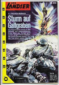 Der-Landser-Nr-314-von-1963-TOP-Z0-1-ORIGINAL-ERSTAUSGABE-Pabel-Romanheft