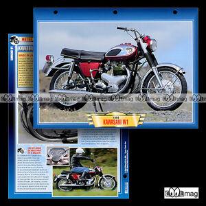 #050.06 Fiche Moto KAWASAKI 650 W1 1966 Motorcycle Card 川崎 ZxBhyff1-09164211-539414541