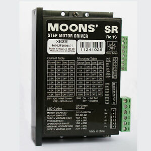 Sr8h Moons 39 2 Phase Stepper Motor Driver Controller 4 5a 24 75vdc Micro Step