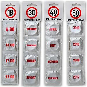 Details Zu Happy Birthday Condoms 18 30 40 50 Condom Set Sexy Funny Adult Novelty Gifts