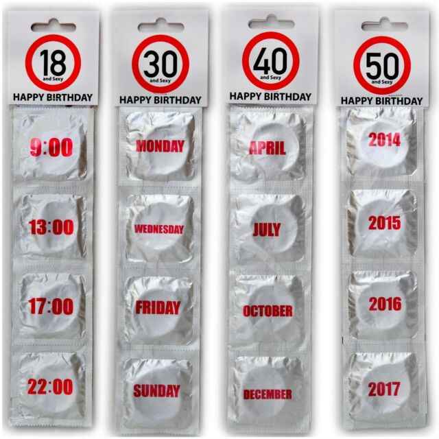 HAPPY BIRTHDAY CONDOMS 18 30 40 50 CONDOM SET SEXY FUNNY ADULT NOVELTY GIFTS