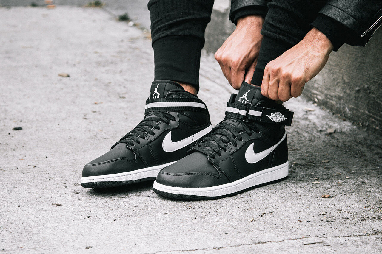 Nike Air Jordan 14.Negro 1 Hola correa tamaño 14.Negro Jordan Blanco