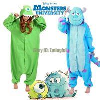 Monster's Inc. Adult Fleece Onesies Kigurumi Pajamas Cartoon Cosplay Sleepwear