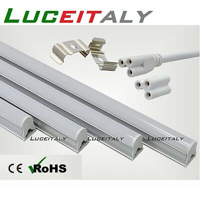 Sottopensile T5 tubo LED 9w 15w 18w luce bianca fredda 60 90 120cm plafoniera
