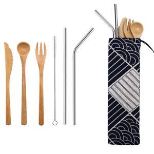 amp-Kitchen-Chopsticks-Dinnerware-Set-Bamboo-Cutlery-Fork-Spoon-Camping-Tableware