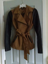 ZINGA Sexy Women's Fashion Spring/Fall Jacket ~  Small ~ Cotton and Faux-Leather