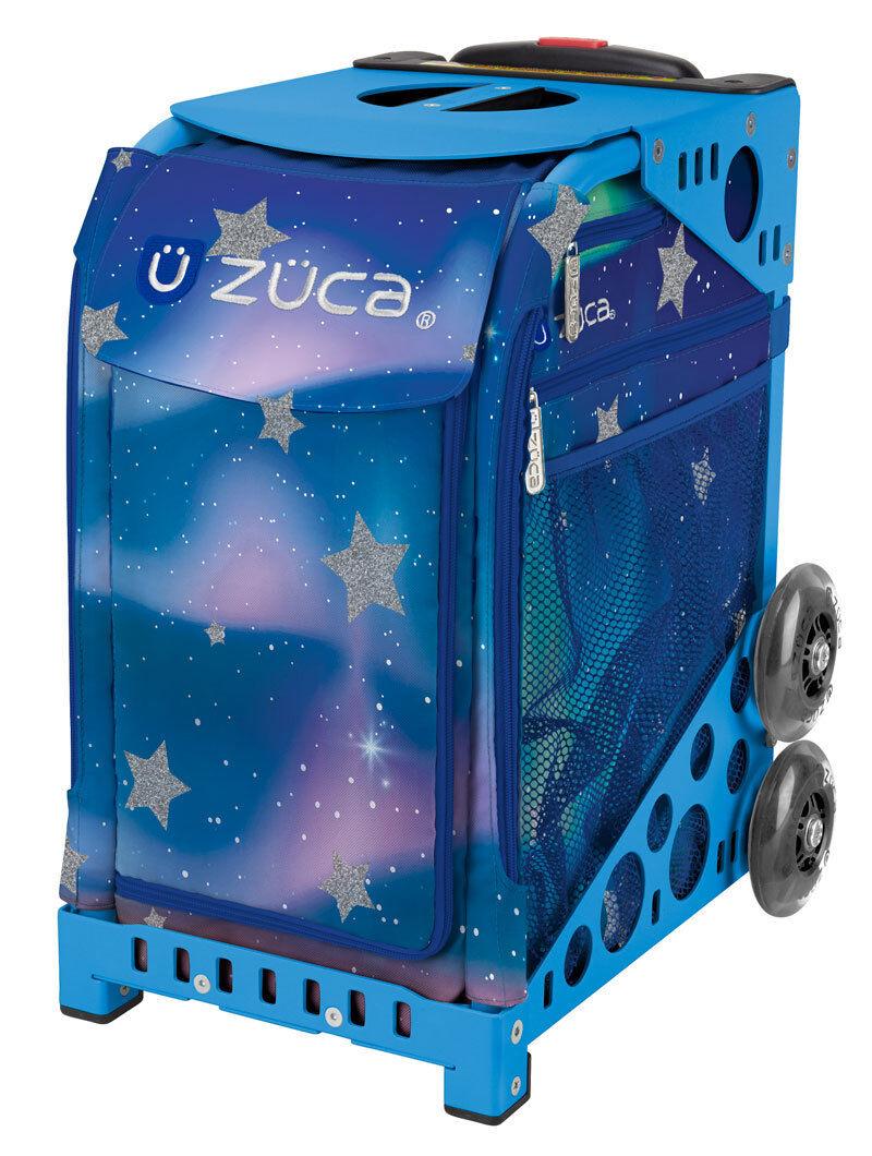 ZUCA Bag AURORA Insert & bluee Frame w Flashing Wheels - FREE SEAT CUSHION
