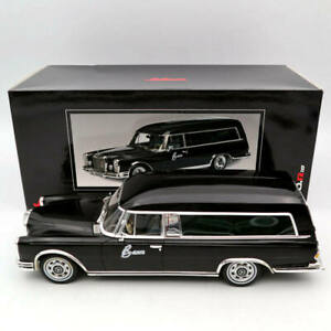 Schuco-1-18-mercedes-benz-600-Hearse-tristesse-car-1965-carro-funebre-Black