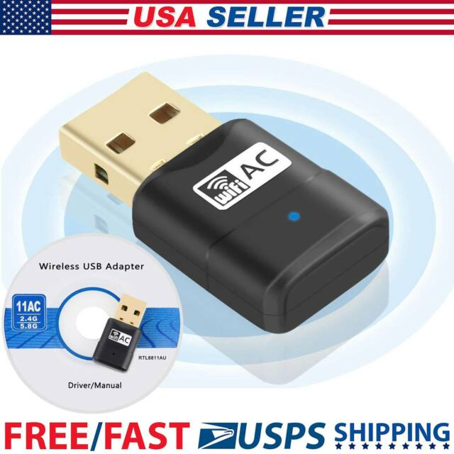 Mini USB WiFi Adapter 600Mbp Dongle AC600 2.4G/5G Dual Band