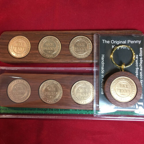 90th Wedding Anniversary Gift 1929 Jarrah Two-Up Game /& Penny Keyring Gift Pack