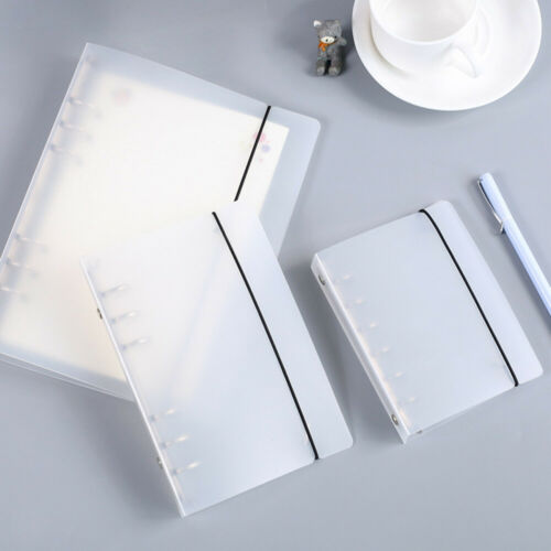 A5 A6 A7 Matte PP Clear Loose Leaf Ring Binder Inner Core Spiral Cover W// 6 Hole