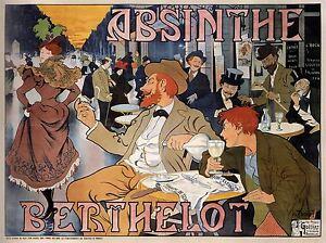 ADVERT-ABSINTHE-BERTHELOT-BRUSSELS-BELGIUM-CAFE-VINTAGE-POSTER-PRINT-BB1642A