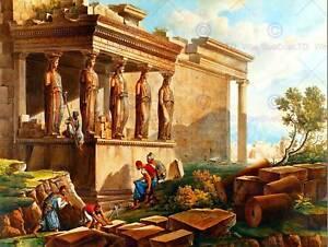Pintura-Paisaje-Cassas-porche-cariatides-erechtheion-Art-Print-cartel-HP1701