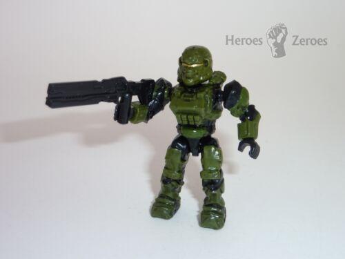Halo Mega Bloks Set #97118 UNSC Green Spartan Soldier with Railgun Figure