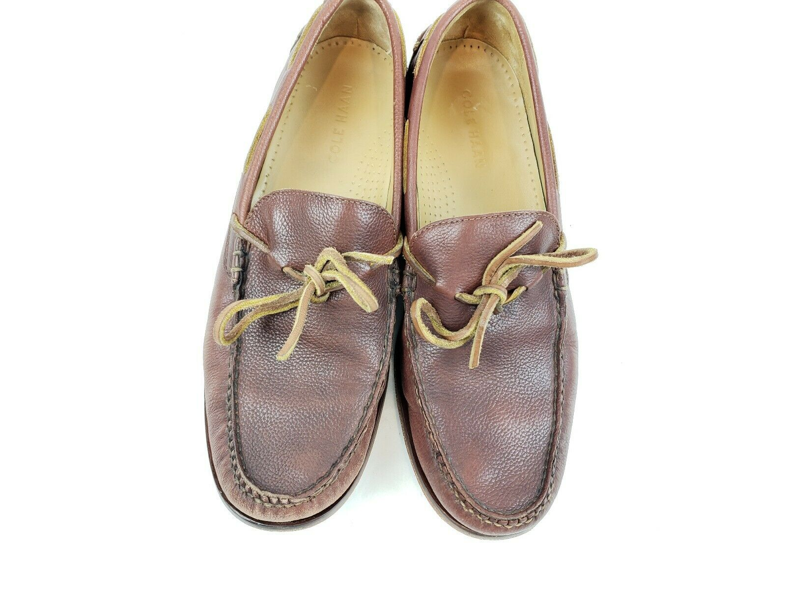 Cole Haan Mens Henderson Loafer shoes Brown Cognac Leather Size 8.5M C13875