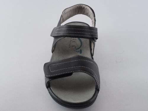 Nuovo S Scarpe Comode Inserto 36 Julia Nero Donna In 37 38 Pelle Sciolto Sandali SOq4xBwFx