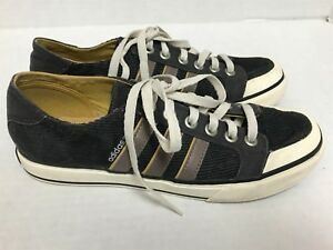 ADIDAS GRAY CORDUROY SNEAKERS 2010 CAMPUS STYLE SIZE 8 MENS