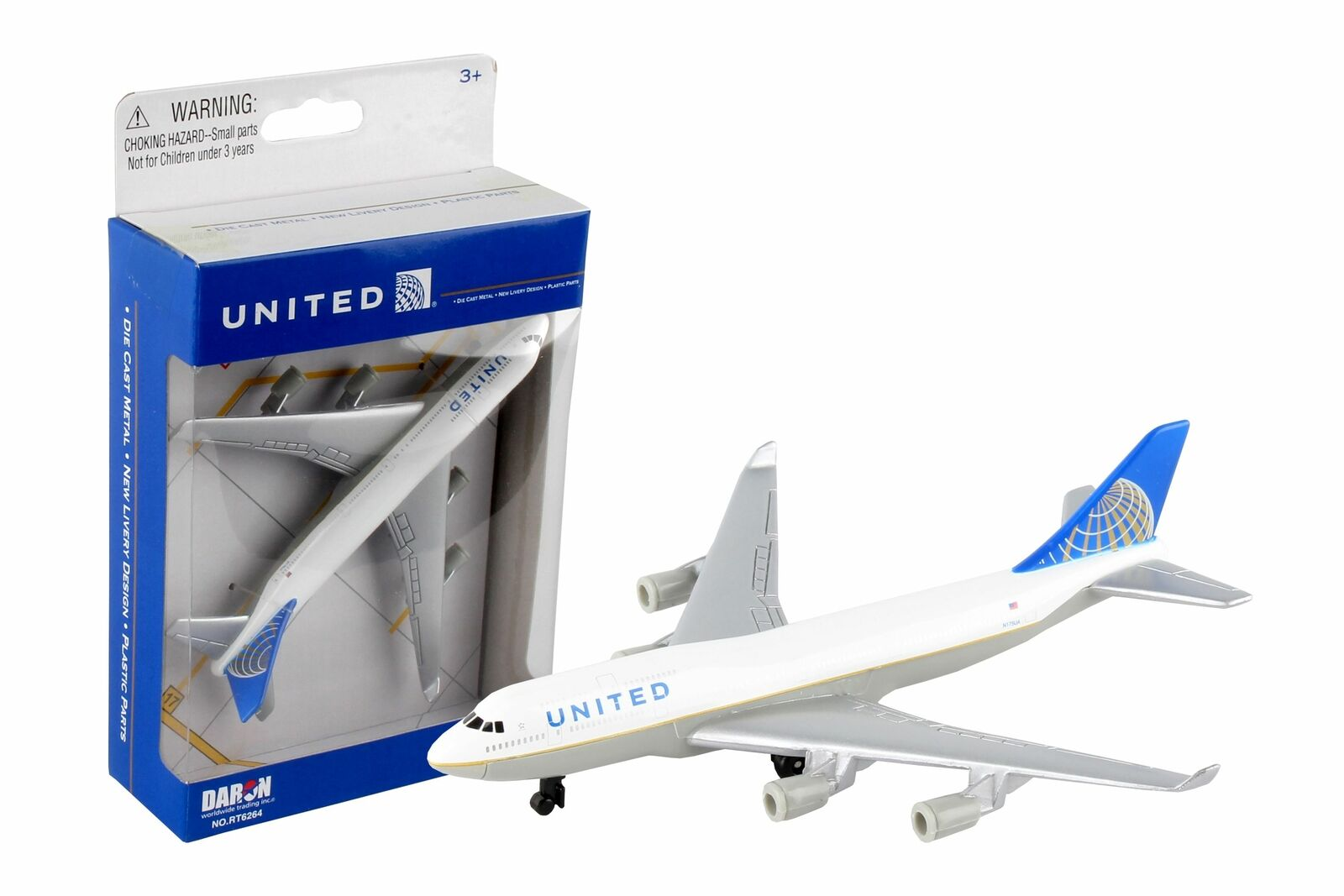 Daron American, United, and Delta Airlines Die-Cast Collectible Collectible Collectible Planes 3PK fc7d08