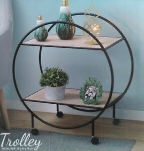 trolley etagere desserte meuble zen industriel fer forge