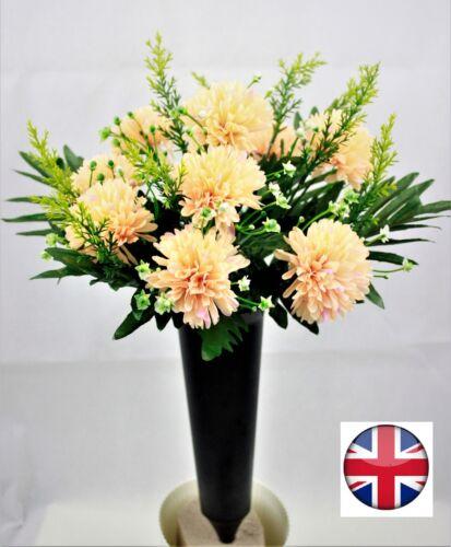 Artificial flower Bunch witht grave pot spike memorial Chrysanthemum bunch