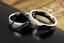 Anello-Coppia-Fedine-Fidanzamento-acciaio-Amore-Cuore-Spezzato-nome-Idea-Regalo miniatura 3
