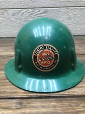 Vintage Msa Skullgard Full Brim Hard Hat Helmet Public Service Electric Indiana