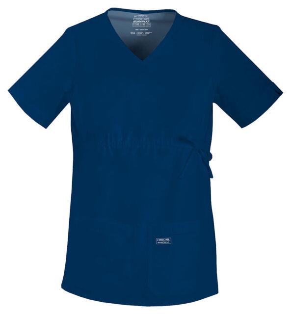 05e2235dcd6 Maternity Scrubs Sets Cherokee Workwear Top 4708 Pant 4208 Navy XL ...