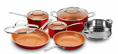 Gotham Steel 10-Piece Frying Pan and Cookware Set
