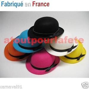 LOT-DE-24-CHAPEAUX-MELON-COULEUR-ENFANT-Clown-Cirque-Accessoire-Deguisement-Fete