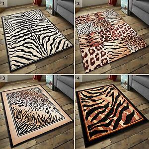 Moderne Teppiche Leo Zebra Weiss Beige Braun Tiermuster Viele Grossen