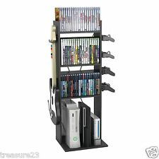 Video Game System Storage Rack & Accessory Organizer Holds 60 Games Xbox ps3