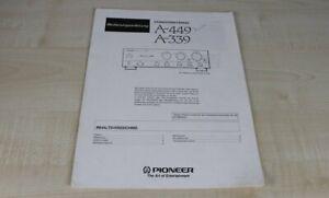 Pioneer-A-339-A-449-original-Bedienungsanleitung-Deutsch