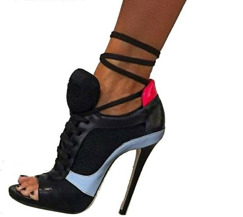 Women's Pumps Open-Toed Summer Spring Sandals Ladies High Heels Serpentine Shoes