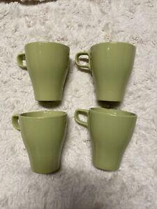 """IKEA FARGRIK  Stackable 4/""""  8 oz Mug Chartreuse//Green"""
