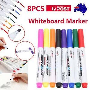 8-Colour-Set-Kids-Whiteboard-Marker-Non-Toxic-Dry-Erase-Easy-Wipe-Bullet-Tip-Pen