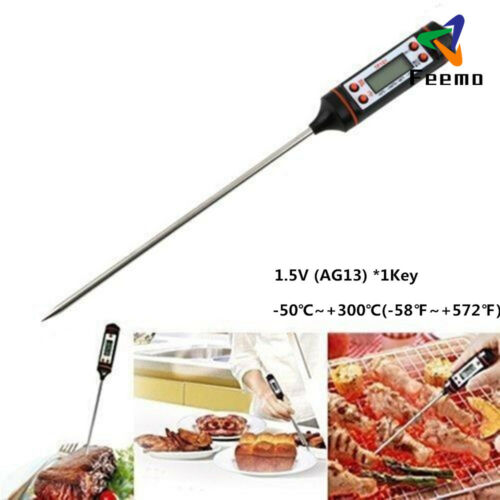 2*Digital Kitchen Probe Thermometer Food Temperature Cooking BBQ Baking Jam Meat