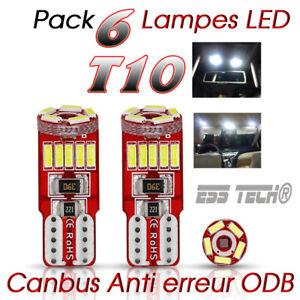 Ampoule-T10-led-W5w-canbus-interieur-anti-erreur-ODB-OBD2-Bmw-Audi-Ww-Mercedes