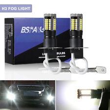 2pcs H3 Led Fog Light Bulbs Conversion Kit 6000k Bright White Driving Lamps Cree