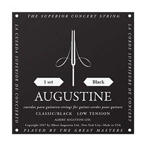 Augustine-Clasico-Negro-Baja-Tension-Cuerdas-para-Guitarra-Clasica
