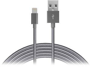 Just-Wireless-6-039-Lightning-USB-Charging-Cable-for-Apple-Devices-Slate-Gray