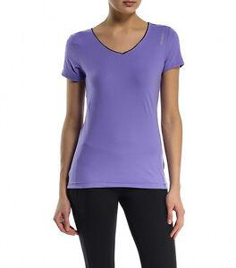 Purple Gym Womens Top Girls Shirt Reebok Training Ladies New T g7ZaZq