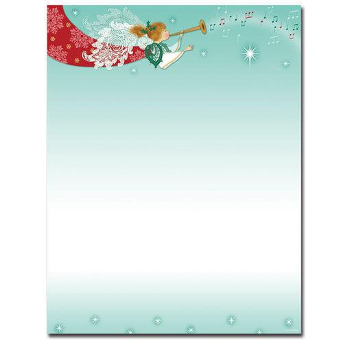 Herald Angel Winter Christmas Letterhead 25 or 80pk