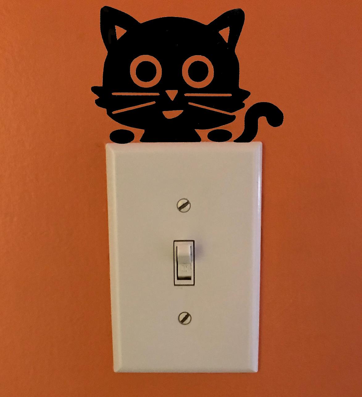 4 Pcs Cute Black Sleeping Cats Cartoon Wall Sticker Family Diy Decor Art Car Stickers Home