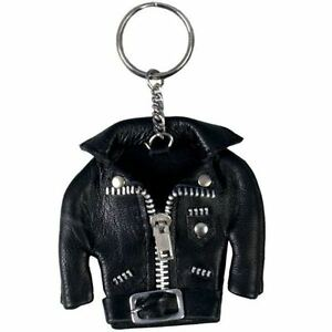 Key Ring Motorcycle Miniature Leather Jacket Black New Biker Key Chain